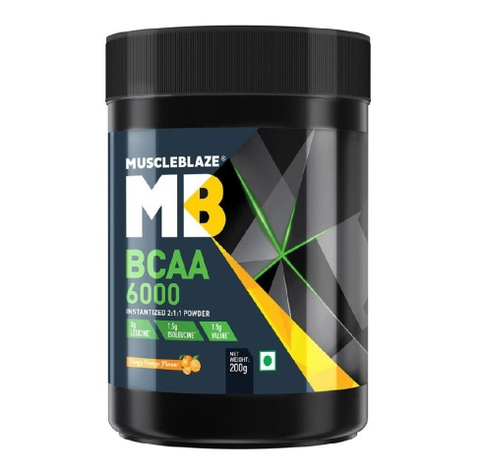 Muscleblaze Bcaa 6000 Amino Acid Powder (Tangy Orange) 200 GM
