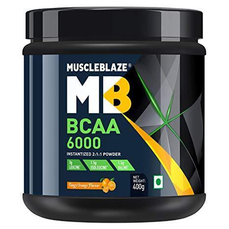 Muscleblaze Bcaa 6000 Amino Acid Powder (Tangy Orange) 400 GM