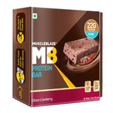 MuscleBlaze Protein Bar Choco Cranberry 6 Pieces 432 gm