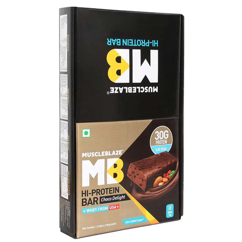 MuscleBlaze Hi-Protein Bar Choco Delight 12 Pieces 1200 gm