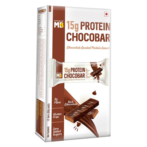 MuscleBlaze ChocoBar Rich Chocolate 12 Pieces 720 gm