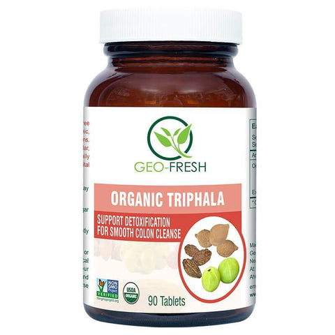 Geo Fresh Organic Triphala 90's Tablet For Digestion, Gastric Problems, Heart & Urinary Problems