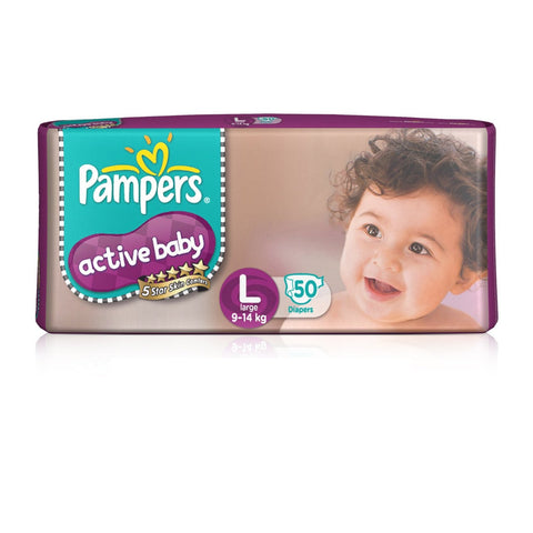 Pampers Active Baby Large 50's Diaper