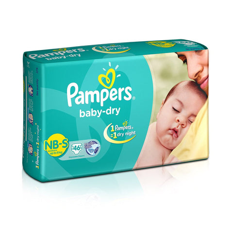 Pampers Baby Dry New Born - Small 46Pcs Diapers