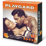 Playgard More Play Dotted Orange 3's Condom