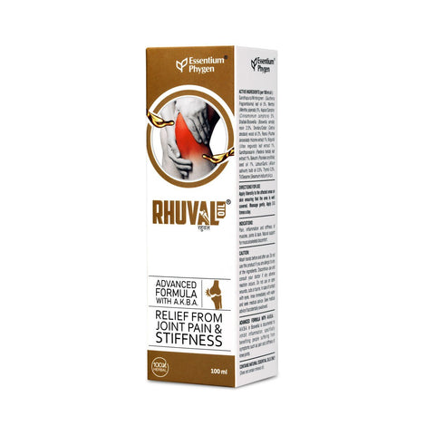 Essentium Phygen Rhuval Oil 100 Ml - Relief From Joint Pain & Stiffness