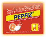Pepfiz Evt Tablets - Orange Flavour For Digestion Acidity, Gas Problems & Heart Burn