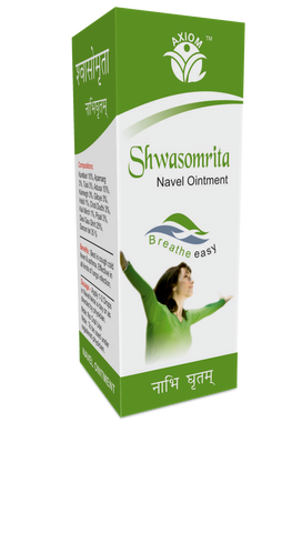 Axiom Swasomrita Navel Ointment 15 ML For cough, cold, fever, asthma &  lungs infections