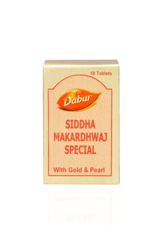 Dabur Siddha Makaradwaj Special 10 Tablet For Rejuvenation & Anti-Aging Treatment