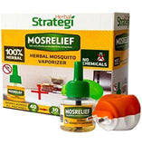 Strategi MosRelief Herbal Mosquito Vaporizer 40 ML With Machine