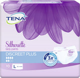 TENA Silhouette Lady Pants Discreet Plus - Large(111-137 cms) 10 PCs - Adult Diapers