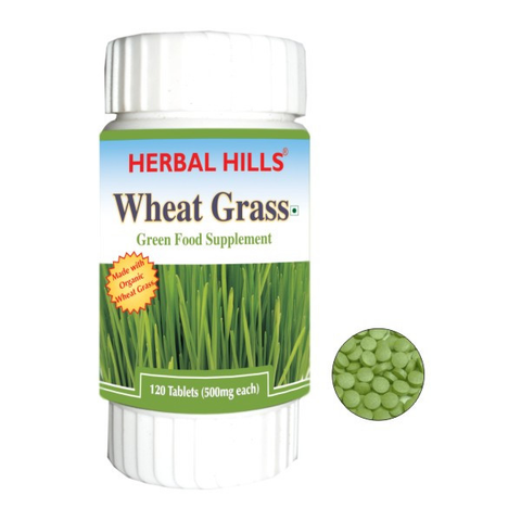Herbal Hills Wheat-O-Power 120'S Tablet - Treat Skin Diseases, Weight Loss, Improve Immunity, Improve Digestion, Treat Arthritis & Reduce Fatigue