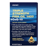GNC Triple Strength Fish Oil With Coq10 Softgel 60 Capsule