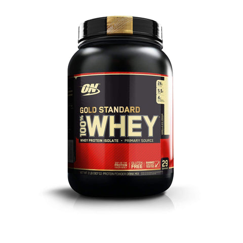 Optimum Nutrition Gold Standard 100% Whey Protein Powder 2LBS (909Gm) Vanilla Ice Cream