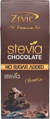 Zevic Classic Chocolate With Stevia - Sugarfree Chocolate