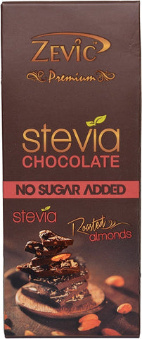 Zevic Roasted Almonds With Stevia - Sugarfree Chocolate