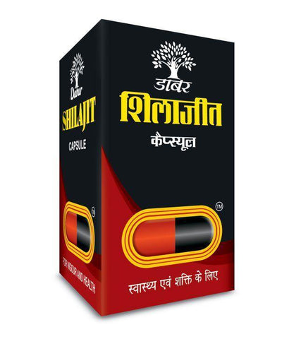 Dabur Shilajith Capsules - Powerful Sexual Stimulant, Aphrodisiac, Rejuvenation, Sexual Health