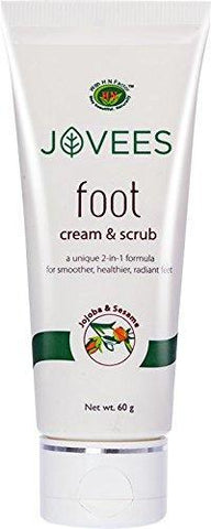 Jovees Foot Care 2 In 1 Scrub & Cream 100Gm