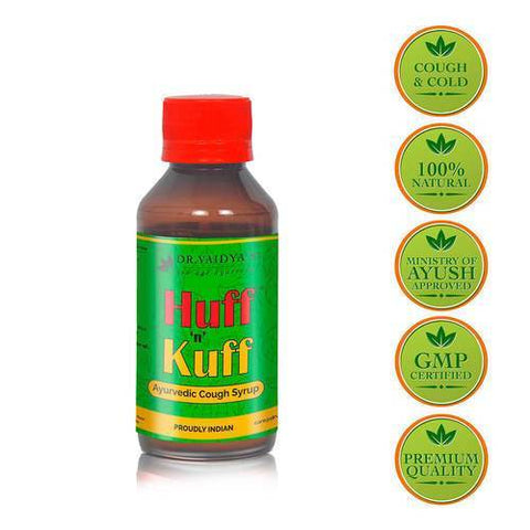 Dr. Vaidya's Huff N Kuff Syrup 100Ml Treat Cough & Throat Irritation