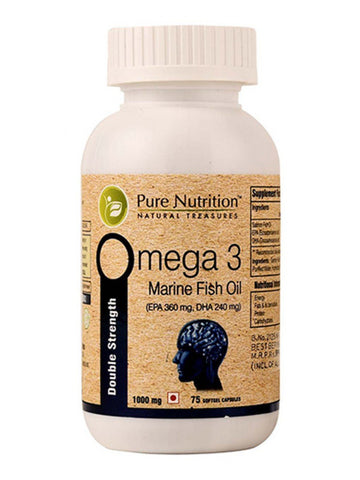 Pure Nutrition Omega 3 (Double Strength) Softgel 1000G Capsules for Healthy Heart