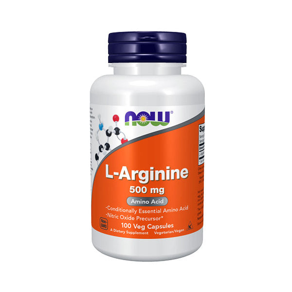 NOW Foods L-Arginine 500 mg 100 Capsules - Bloom Concept
