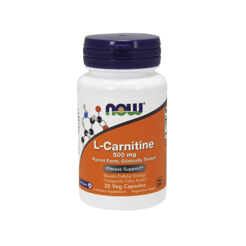 Now Foods, L-Carnitine, 500 mg, 30 Veg Capsules - Bloom Concept