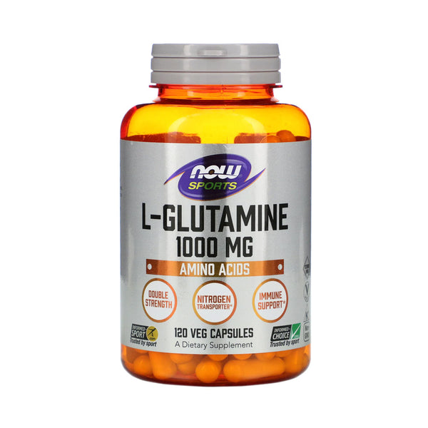 Now Foods, L-Glutamine, Double Strength, 1,000 mg, 120 Capsules - Bloom Concept