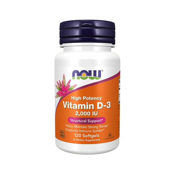 Now Foods, Vitamin D-3 2,000IU 120 Softgels - Bloom Concept