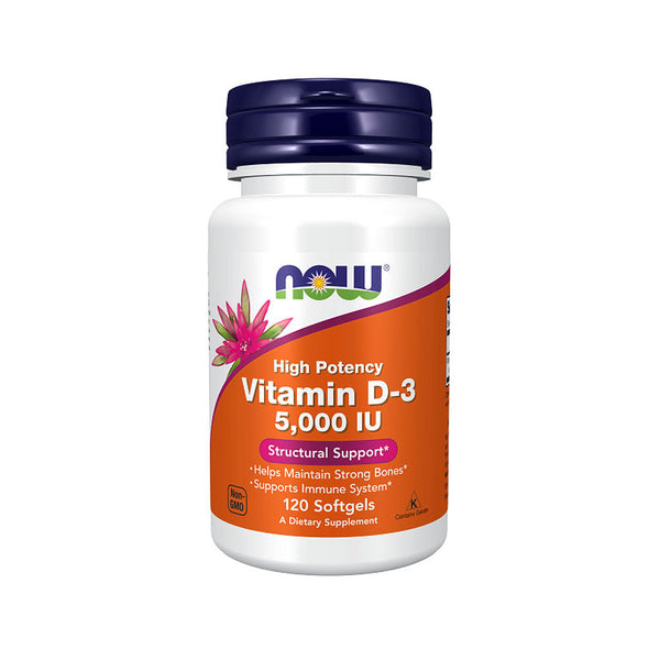 Now Foods, Vitamin D-3 5,000IU 120 Softgels - Bloom Concept