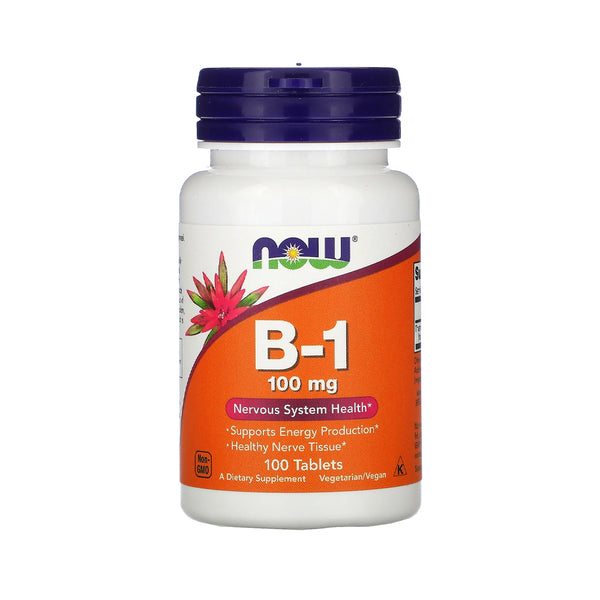 Now Foods, B-1, 100 mg, 100 Tablets - Bloom Concept