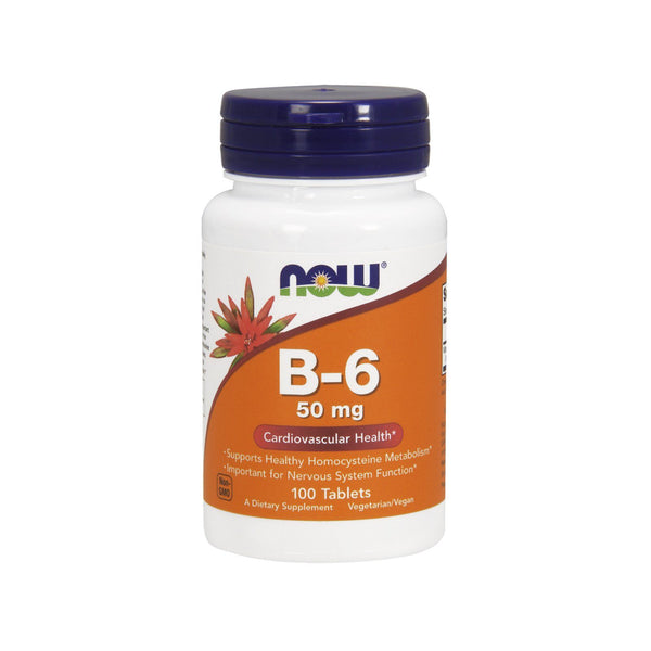 Now Foods, B-6, 50 mg, 100 Tablets - by Bloom Concept