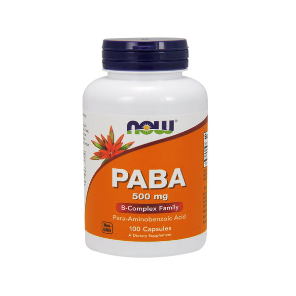 Now Foods, PABA, 500 mg, 100 Capsules - Bloom Concept