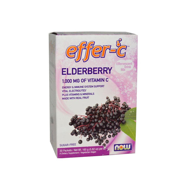 Now Foods, Effer-C, Elderberry, 30 Packets, 5.82 oz (165g) - Bloom Concept