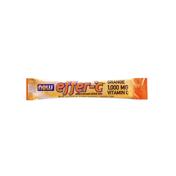 Now Foods, Effer-C, Orange, 30 Packets, 7.94 oz (225g) - Bloom Concept