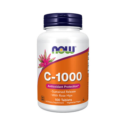 Now Foods, C-1000 Sustained Release, 100 Tablets - by Bloom Concept