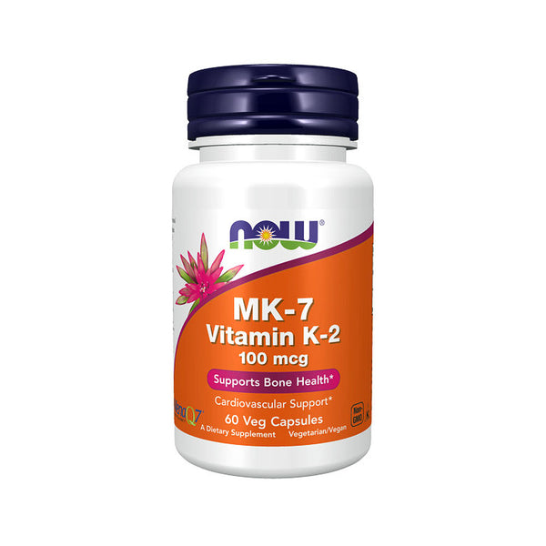 Now Foods, MK-7, Vitamin K-2, 100 mcg, 60 Veg Capsules - Bloom Concept
