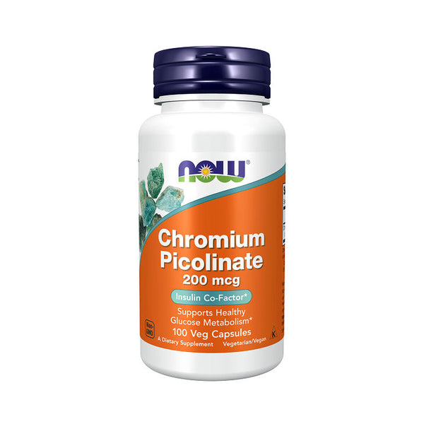 Now Foods, Chromium Picolinate, 200 mcg, 100 Capsules - Bloom Concept