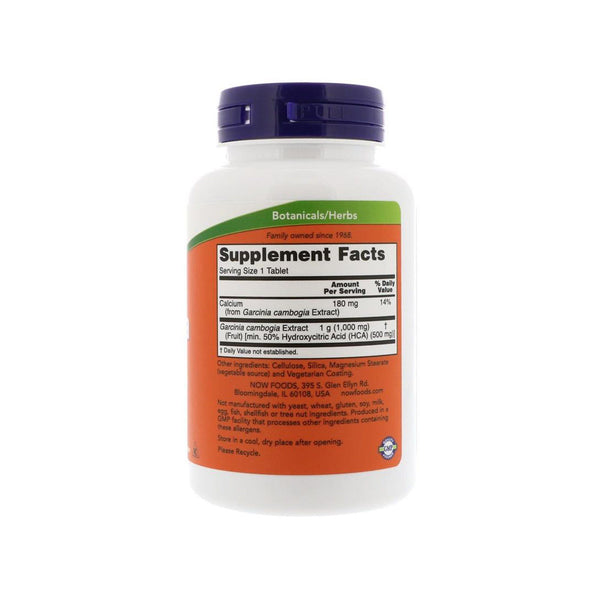Now Foods, Garcinia, 1,000 mg, 120 Tablets - Bloom Concept