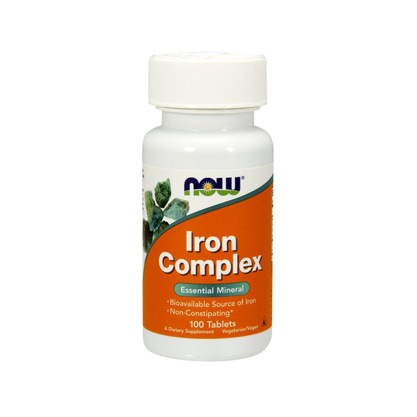 Now Foods, Iron Complex, 100 Vegetarian Tablets - Bloom Concept