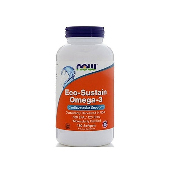 Now Foods, Eco-Sustain Omega-3, 180 Softgels - Bloom Concept