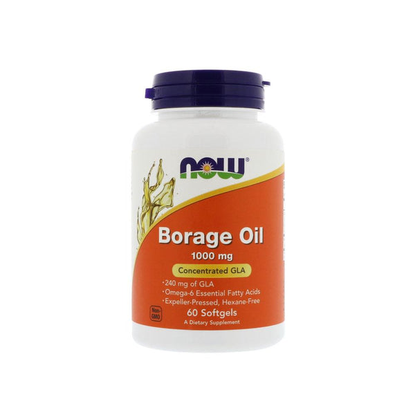 Now Foods, Borage Oil, 1000 mg, 60 Softgels - Bloom Concept