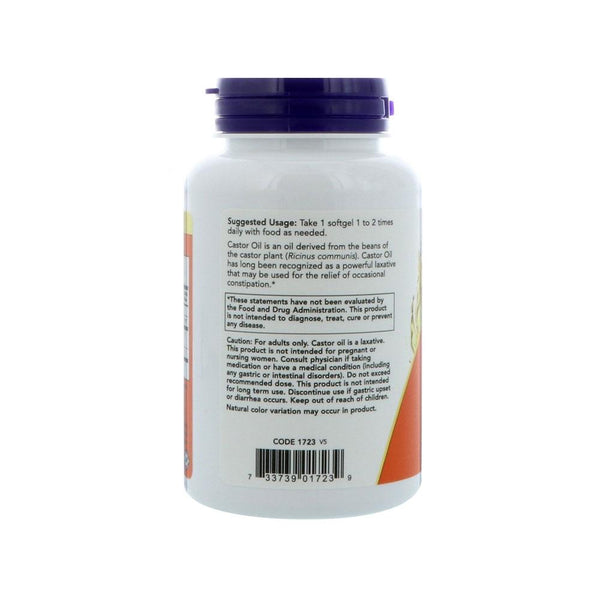 Now Foods, Castor Oil, 650 mg, 120 Softgels - Bloom Concept