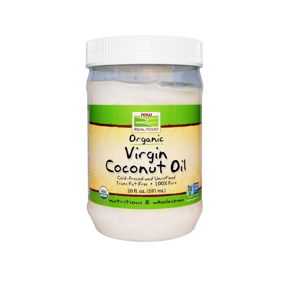 Now Foods, Real Food, Organic Virgin Coconut Oil, 20 fl oz (591 ml) - Bloom Concept