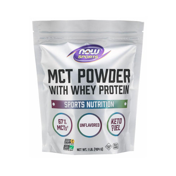 Now Foods, Sports, MCT Powder with Whey Protein, 1 lb (454 g) - Bloom Concept