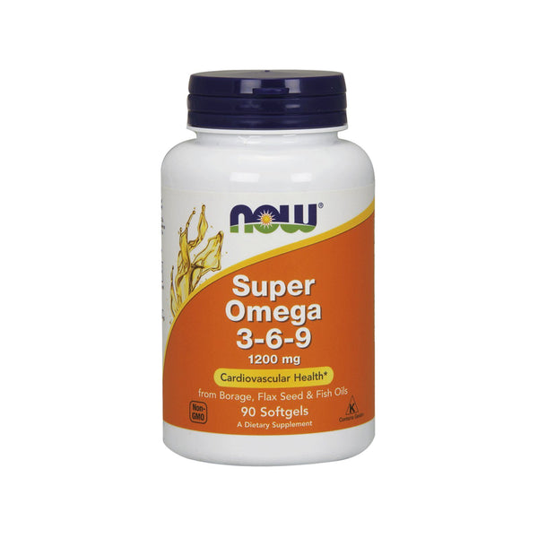 Now Foods, Super Omega 3-6-9, 1200 mg, 90 Softgels - Bloom Concept