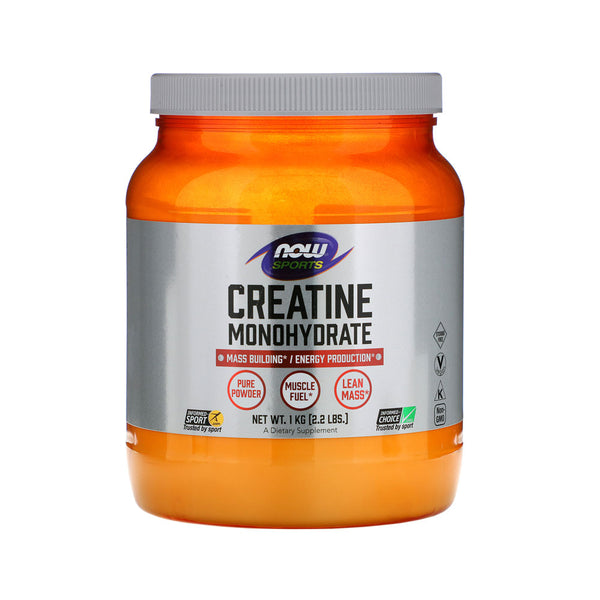 Now Foods, Sports, Creatine Monohydrate, Pure Powder, 2.2 lbs (1 kg) - Bloom Concept