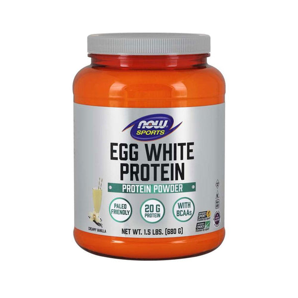 Now Foods, Egg White Protein, Creamy Vanilla, 1.5 lbs (680 g) - Bloom Concept