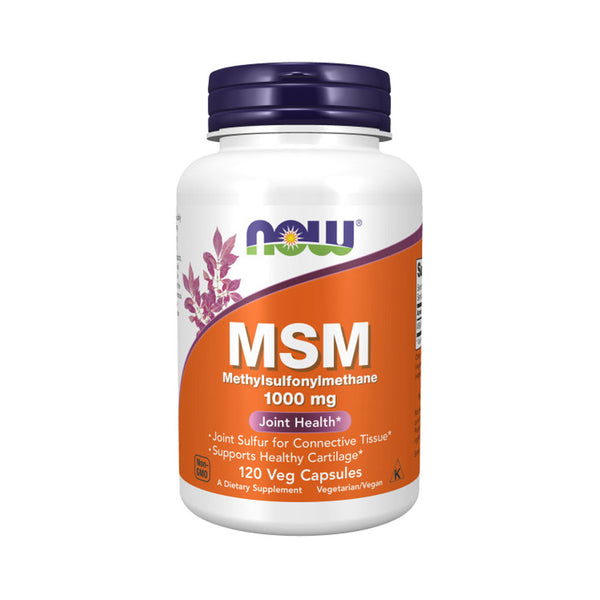 NOW Foods MSM 1000 mg, 120 Veg Capsules - by Bloom Concept