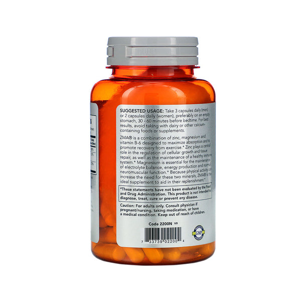 Now Foods, Sports, ZMA, Sports Recovery, 90 Capsules - Bloom Concept