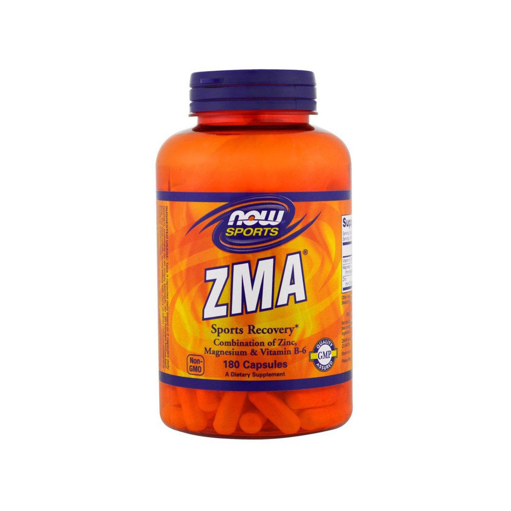 Now Foods, Sports, ZMA, Sports Recovery, 180 Capsules - Bloom Concept